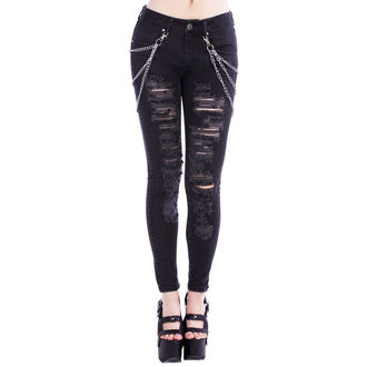 pantaloni femei Suspiciunea - Negru Metal, DISTURBIA