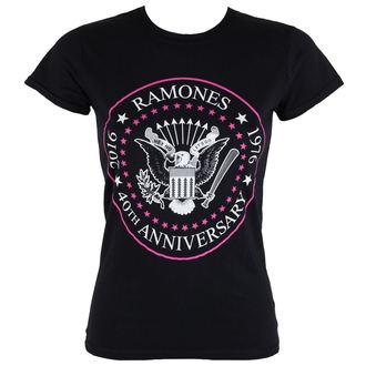 tricou stil metal femei Ramones - 40th Anniversarry - ROCK OFF, ROCK OFF, Ramones