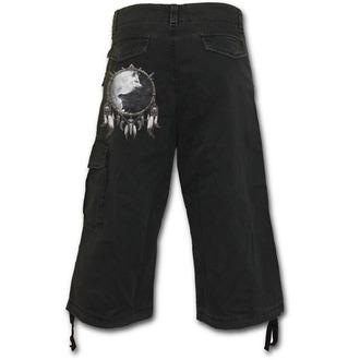 a bărbaţilor 3/4 pantaloni scurți SPIRALĂ - Wolf Chi - Negru, SPIRAL
