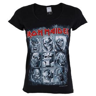 tricou stil metal femei Iron Maiden - EDDIES - AMPLIFIED, AMPLIFIED, Iron Maiden