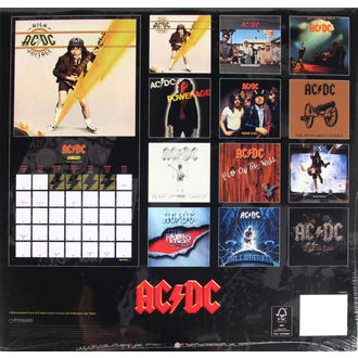 Calendar pentru 2017 - AC/DC, AC-DC