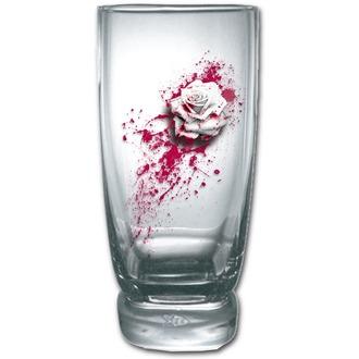 Set sticlă (2 bucăţi)  SPIRAL - BLOOD ROSE, SPIRAL