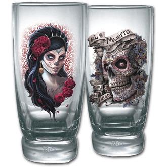 Set sticlă (2 bucăţi)  SPIRAL - DAY OF THE DEAD, SPIRAL