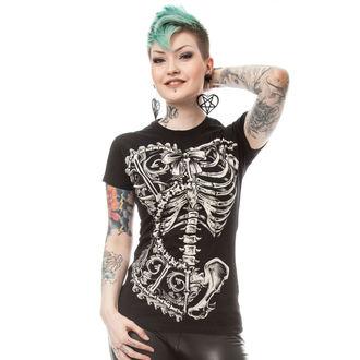tricou femei - BONE CORSET T - POIZEN INDUSTRIES - POI176