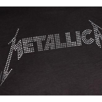 tricou stil metal bărbați Metallica - BLACK LOGO DIAMANTE - AMPLIFIED, AMPLIFIED, Metallica