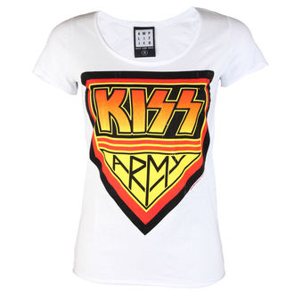 tricou stil metal femei Kiss - DISTRESSED ARMY WHITE - AMPLIFIED, AMPLIFIED, Kiss