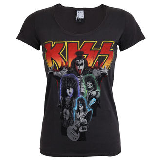 tricou stil metal femei Kiss - BAND SHOT DISTRESSED - AMPLIFIED, AMPLIFIED, Kiss