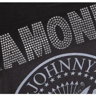 tricou stil metal femei Ramones - LOGO SILVER DIAMANTE - AMPLIFIED, AMPLIFIED, Ramones