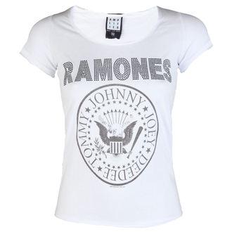 tricou stil metal femei Ramones - LOGO DIAMANTE - AMPLIFIED, AMPLIFIED, Ramones