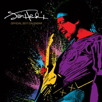 Calendar Jimi Hendrix 2017, PYRAMID POSTERS, Jimi Hendrix