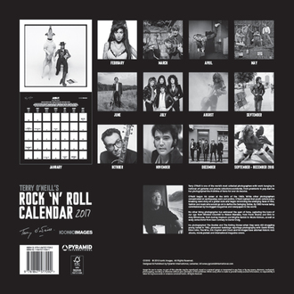 Calendar Terry O'Neill's Rock 'n' Roll 2017, PYRAMID POSTERS