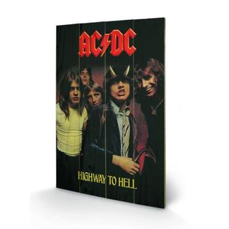 Imagine pe lemn AC / DC - Highway to Hell, PYRAMID POSTERS, AC-DC