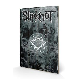 Imagine pe lemn Slipknot - Pentagram, PYRAMID POSTERS, Slipknot
