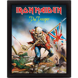 Imagine 3D  Iron Maiden - The Trooper, PYRAMID POSTERS, Iron Maiden