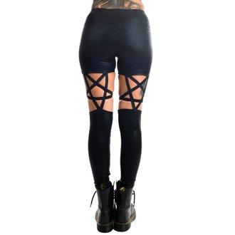 Pantaloni femei (colanți) TOO FAST - PENTAGRAM - BLACK GLITTER, TOO FAST