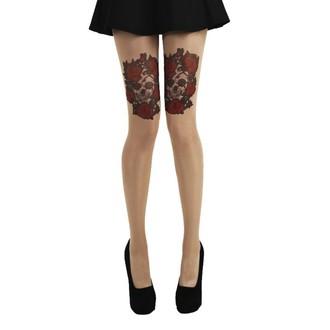Colanți PAMELA MANN - Skull and Red Roses Tattoo, PAMELA MANN