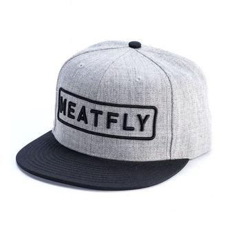 Șapcă MEATFLY - SPON SNAPBACK D - GRI HEATHER / BLACK, MEATFLY