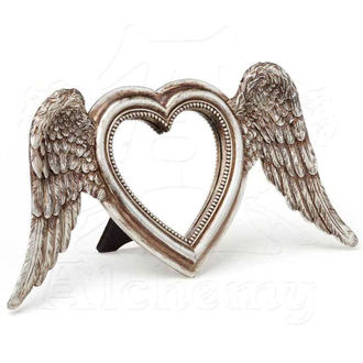 Decoraţiune (oglindă) ALCHEMY GOTHIC - Winged Heart (Wings Down), ALCHEMY GOTHIC