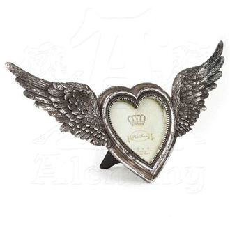 Decoraţiune (Ramă fotografie) ALCHEMY GOTHIC - Winged Heart(Wings Open), ALCHEMY GOTHIC