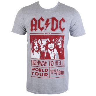 tricou stil metal bărbați AC-DC - Highway To Hell World Tour 1979/80 - ROCK OFF, ROCK OFF, AC-DC