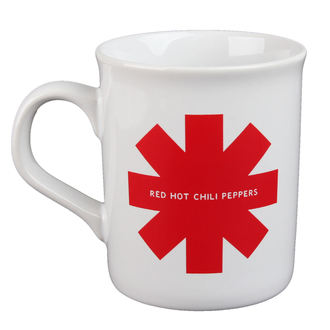 Cană Red Hot Chili Peppers - Red Asterisk - White, Red Hot Chili Peppers