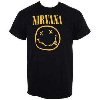 tricou stil metal bărbați Nirvana - Smiley Logo - LIVE NATION