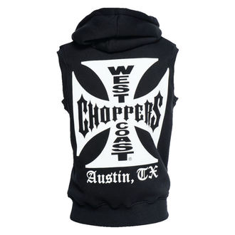vestă - IRON CROSS SLEEVELESS HOODY - West Coast Choppers, West Coast Choppers