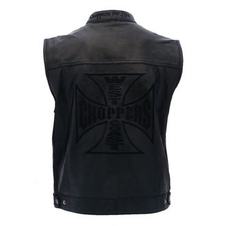 vestă - OG CROSS LEATHER RIDING - West Coast Choppers, West Coast Choppers