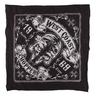 Eşarfă West Coast Choppers - SKULL 13 - BLACK, West Coast Choppers