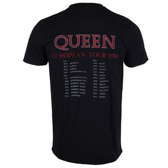 tricou stil metal bărbați Queen - European Tour 1984 - ROCK OFF, ROCK OFF, Queen