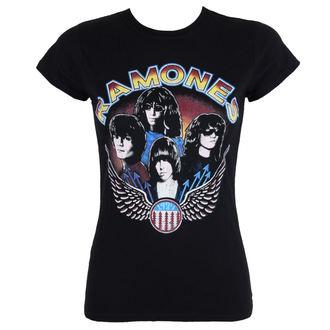 tricou stil metal femei Ramones - Vintage Wings - ROCK OFF, ROCK OFF, Ramones