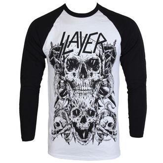 Tricou bărbaţi cu mâneci lungi Slayer - Skulls Raglan - ROCK OFF, ROCK OFF, Slayer