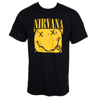 tricou stil metal bărbați Nirvana - BOX SMILEY - PLASTIC HEAD