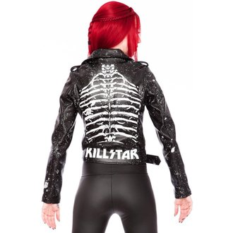 geacă de piele femei - Morgue Gimme Bones - KILLSTAR