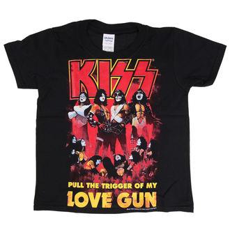 tricou stil metal bărbați copii Kiss - Love Gun - LOW FREQUENCY, LOW FREQUENCY, Kiss