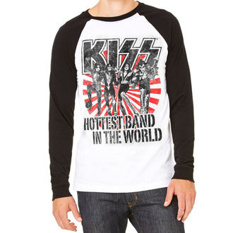 tricou stil metal bărbați Kiss - Hottest Band In The World - HYBRIS, HYBRIS, Kiss