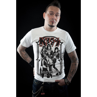 tricou stil metal bărbați Kiss - I Love It Loud - HYBRIS, HYBRIS, Kiss