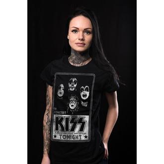 tricou stil metal femei Kiss - In Concert Distressed Poster - HYBRIS, HYBRIS, Kiss