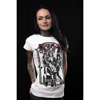 tricou stil metal femei Kiss - I Love It Loud - HYBRIS, HYBRIS, Kiss