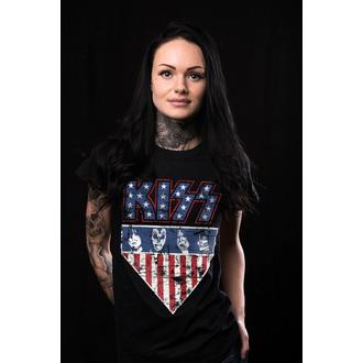 tricou stil metal femei Kiss - Stars & Stripes - HYBRIS, HYBRIS, Kiss