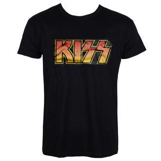 tricou stil metal bărbați Kiss - Distressed Logotype - HYBRIS, HYBRIS, Kiss