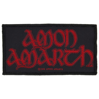 Petic AMON AMARTH - RED LOGO - RAZAMATAZ, RAZAMATAZ, Amon Amarth
