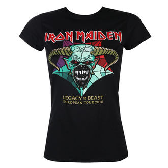 tricou stil metal femei Iron Maiden - Legacy of the Beast European Tour 2018 - ROCK OFF, ROCK OFF, Iron Maiden