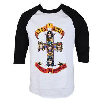 tricou stil metal bărbați Guns N' Roses - AFD RAGLAN-WHITE/BLACK - BRAVADO, BRAVADO, Guns N' Roses