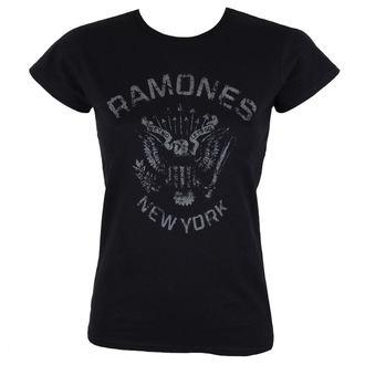 tricou stil metal femei Ramones - HEY HO BLACK - BRAVADO, BRAVADO, Ramones