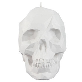 Lumânare Skull - White