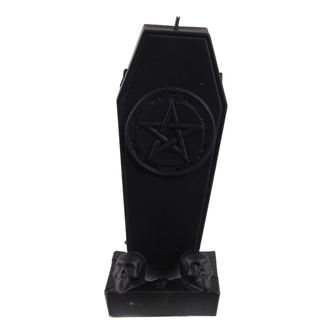 Lumânare Coffin with Pentagram - Black Matt