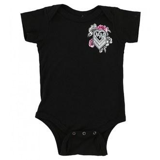 Body total copii METAL MULISHA - BABY GIRL ONESIE - BLK, METAL MULISHA