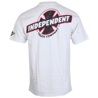 tricou de stradă bărbați - Slant Btg Fill White - INDEPENDENT, INDEPENDENT