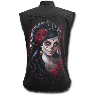 Cămaşă fără mâneci femei SPIRAL - DAY OF THE DEAD - Negru, SPIRAL